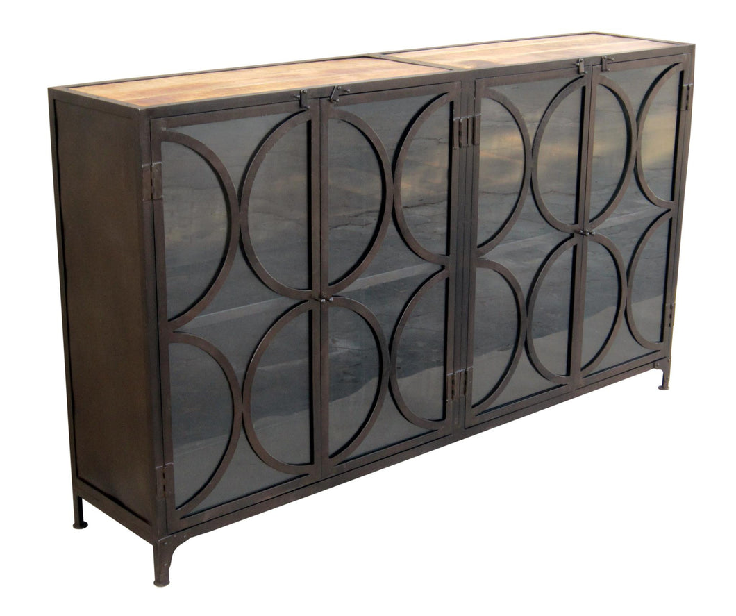 Glass Door Console