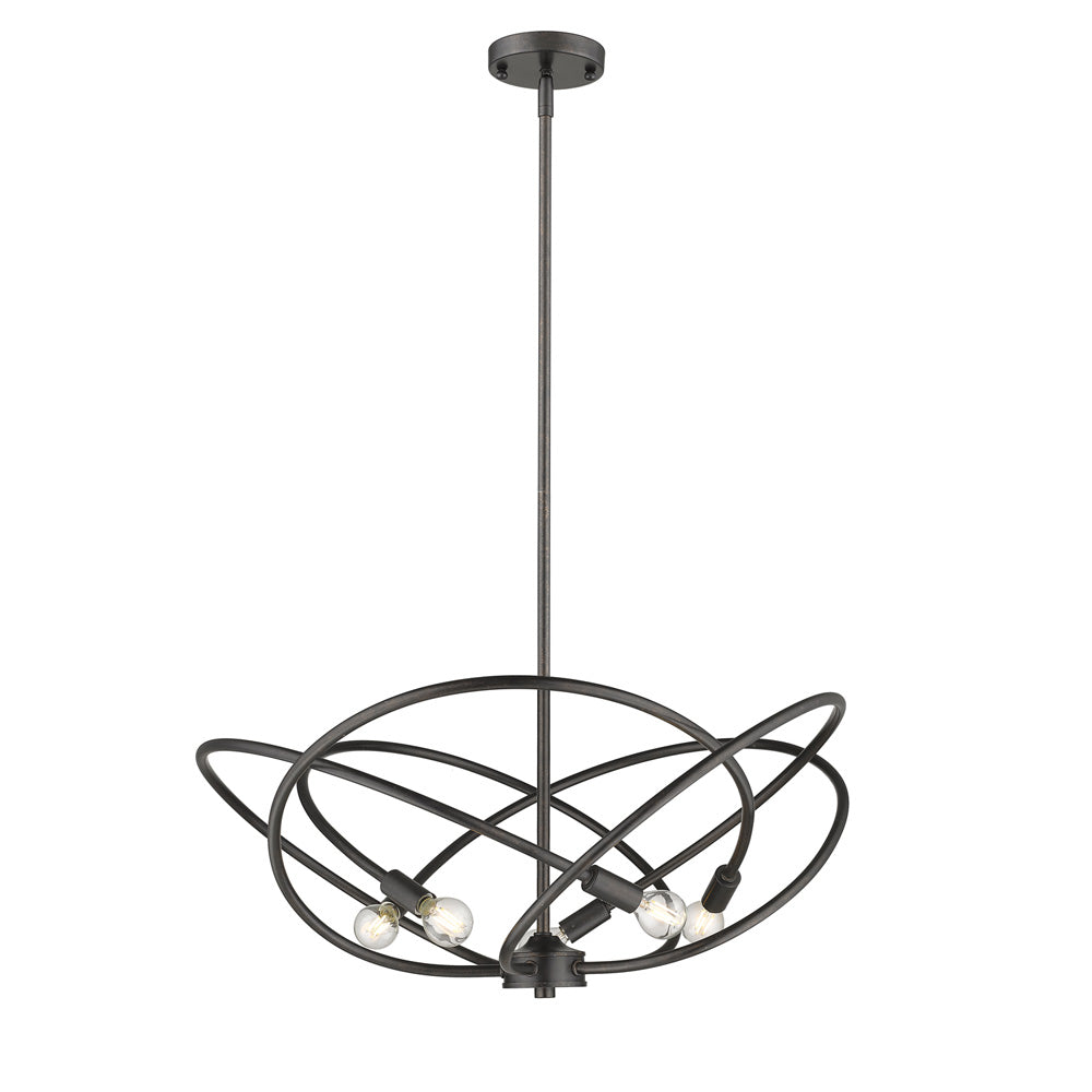 Cosmic 5 Light Chandelier in Etruscan Bronze, Lighting, Laura of Pembroke