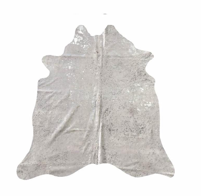 White Devore Silver Acid Washed Premium Brazilian Cowhide, Home Accessories, Laura of Pembroke