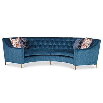 Diamond Tufted Curved Sofa, Home Furnishings, Laura of Pembroke