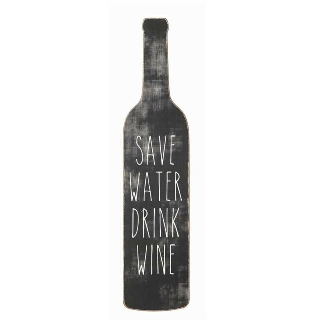 """Save Water Drink Wine"" Wall Décor Home Accessories Laura of Pembroke - Laura of Pembroke Canton Ohio Boutique"