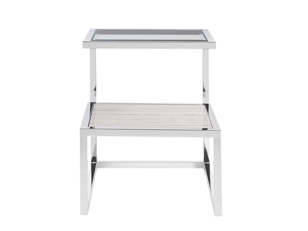 End Table with Stone Shelf, Home Furnishings, Laura of Pembroke