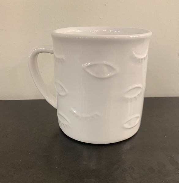 White Mug with Eyes