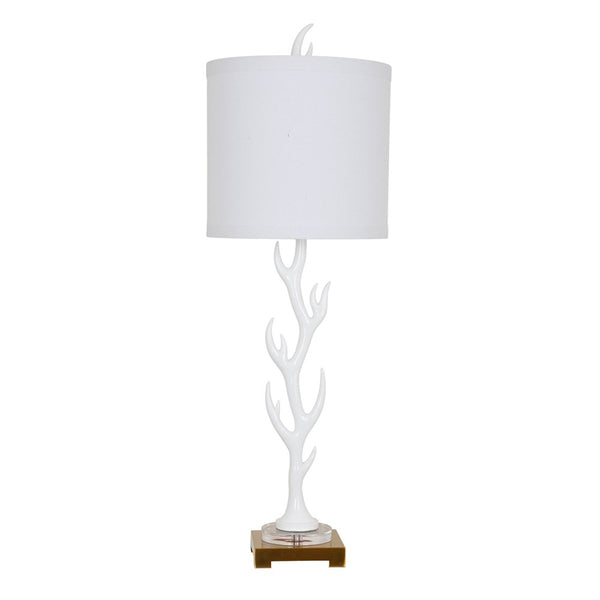 White Flame Table Lamp