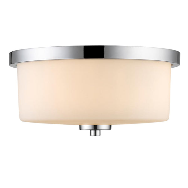 Evette Flush Mount in Chrome with Opal Glass