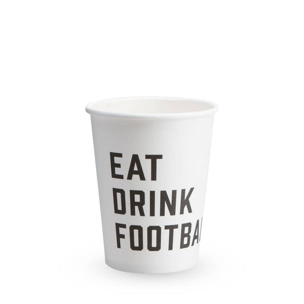 Eat Drink Football Paper Cups