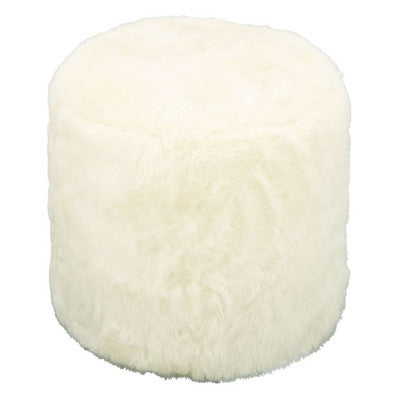 White Fur Ottoman, Home Furnishings, Laura of Pembroke