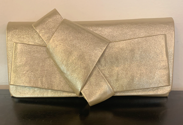 Gold Origami Bow Clutch