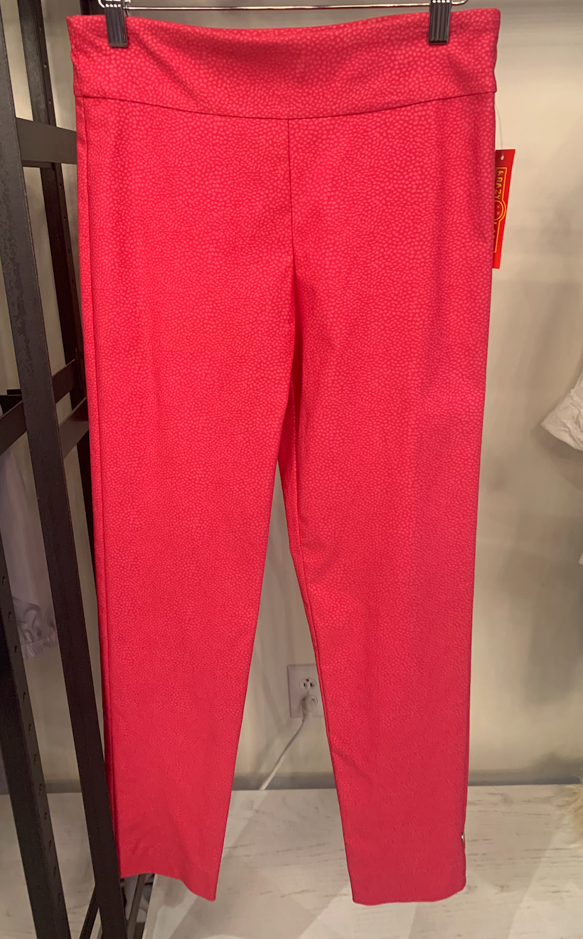 Pink Pebble Pull-On Ankle Pant