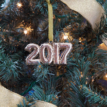Gold 2017 Balloon Ornament