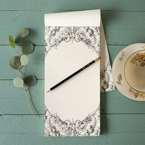 Italian Scroll Notepad, Gifts, Kitchen Papers, Laura of Pembroke