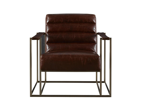 Brompton Brown Leather Chair, Home Furnishings, Laura of Pembroke