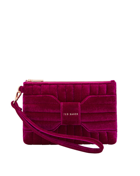 Junie Bow Velvet Pouch, Women's Accessories, Ted Baker London, Laura of Pembroke