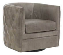 Quilted Leather Swivel Chair, Home Furnishings, Laura of Pembroke