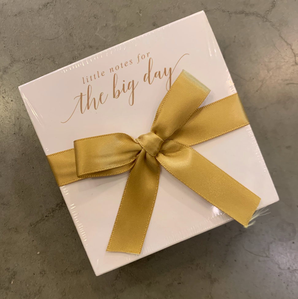 'Little Notes for the Big Day' Mini Luxe Notepad