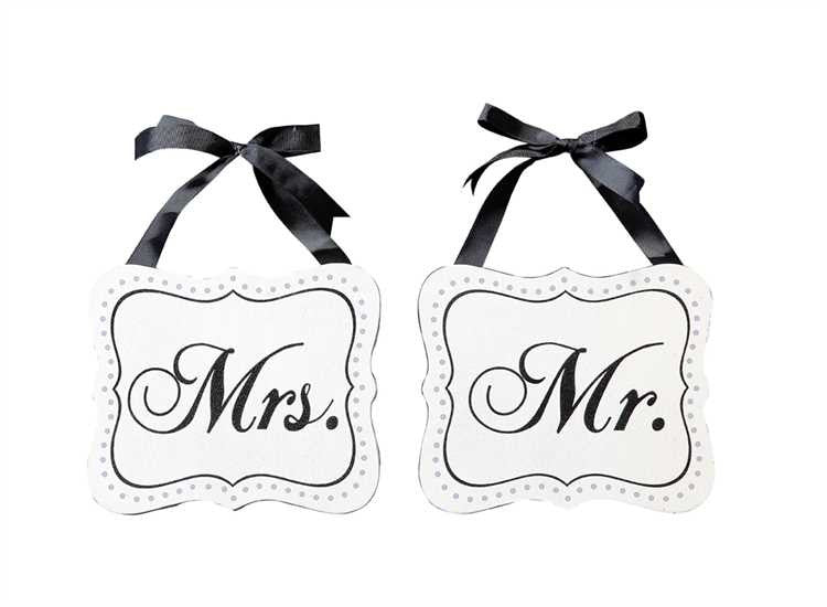 Mr. & Mrs. Signs