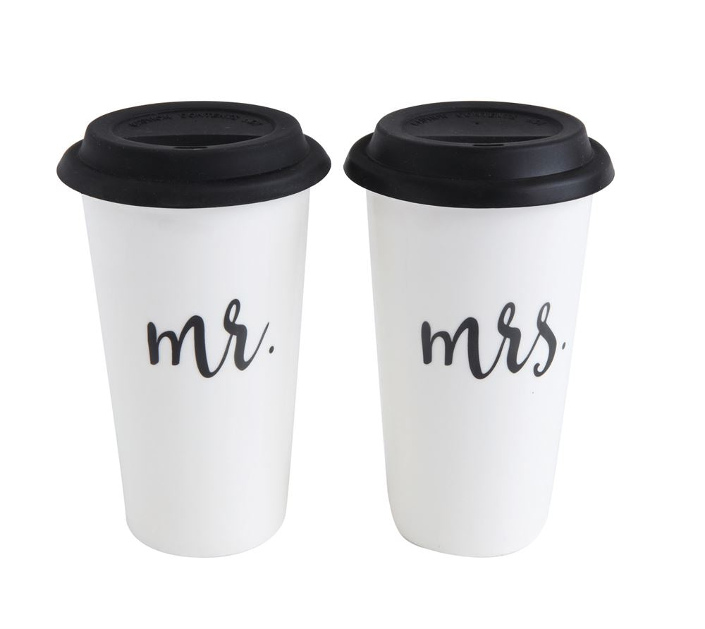 MR & MRS Stoneware Travel Mug, Gifts, Laura of Pembroke