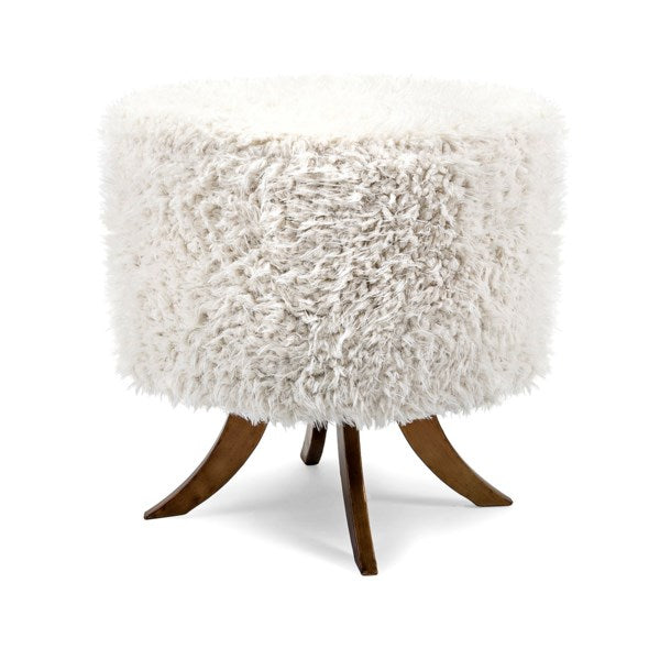 4 Wood Leg Fur Ottoman, Home Accessories, Laura of Pembroke