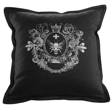 Black Linen Pillow, Home Accessories, Laura of Pembroke