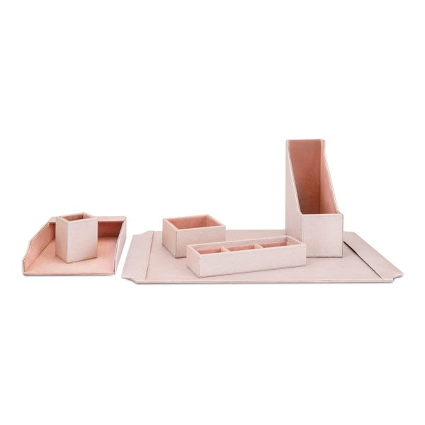 Pink Faux Leather Desk Set, Home Gifts, Laura of Pembroke