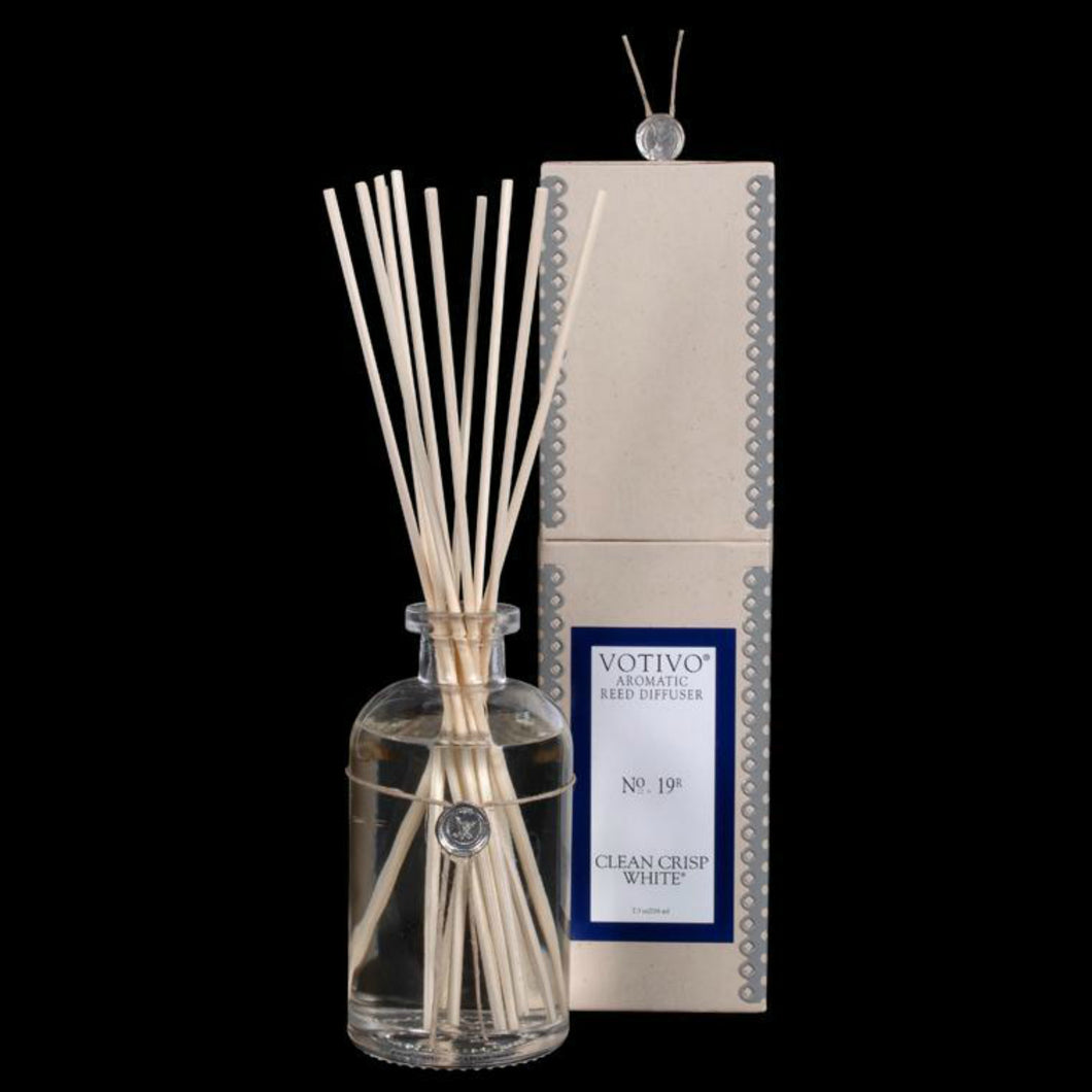 Clean Crisp White Reed Diffuser, Gifts, Votivo, Laura of Pembroke