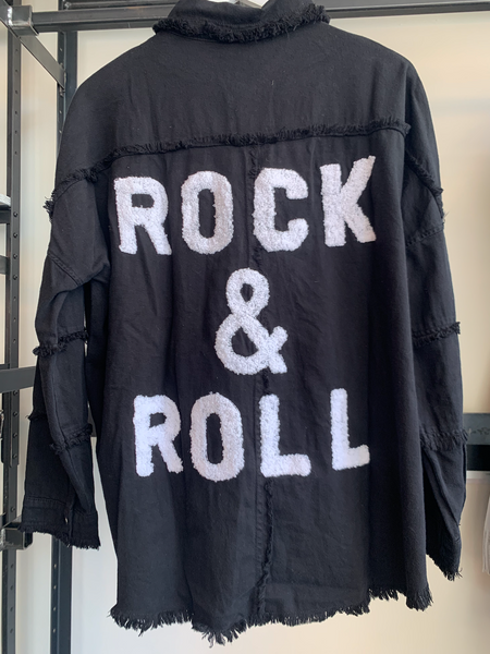 Rock & Roll Black Button Up