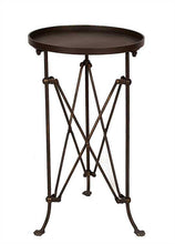 Round Metal Accent Table, Home Furnishings, Laura of Pembroke