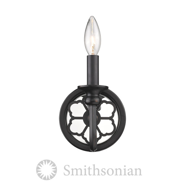 Smithsonian Saxon 1 Light Wall Sconce in Aged Bronze