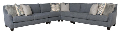 Sectional with Embroidered and Mongolian Fur Pillows, Home Furnishings, Laura of Pembroke