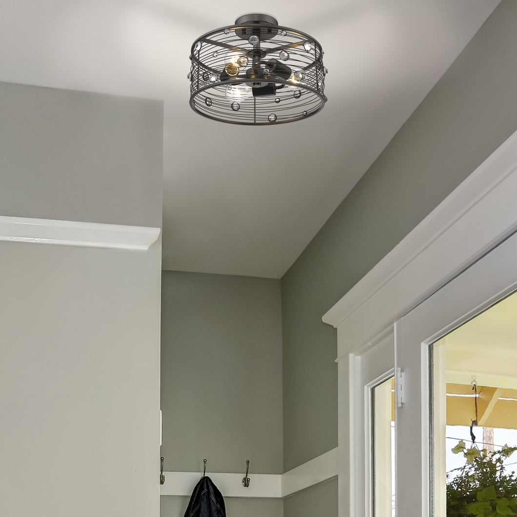 Bijoux Semi-Flush in Brushed Etruscan Bronze, Lighting, Laura of Pembroke