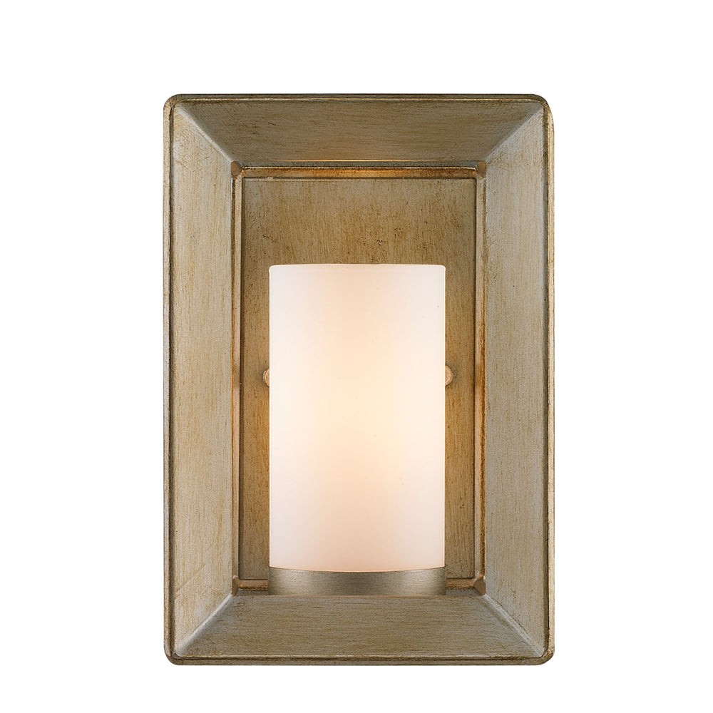 Smyth 1 Light Wall Sconce in White Gold with Opal Glass, Lighting, Laura of Pembroke