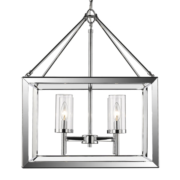 Smyth 4 Light Chandelier in Chrome with Clear Glass