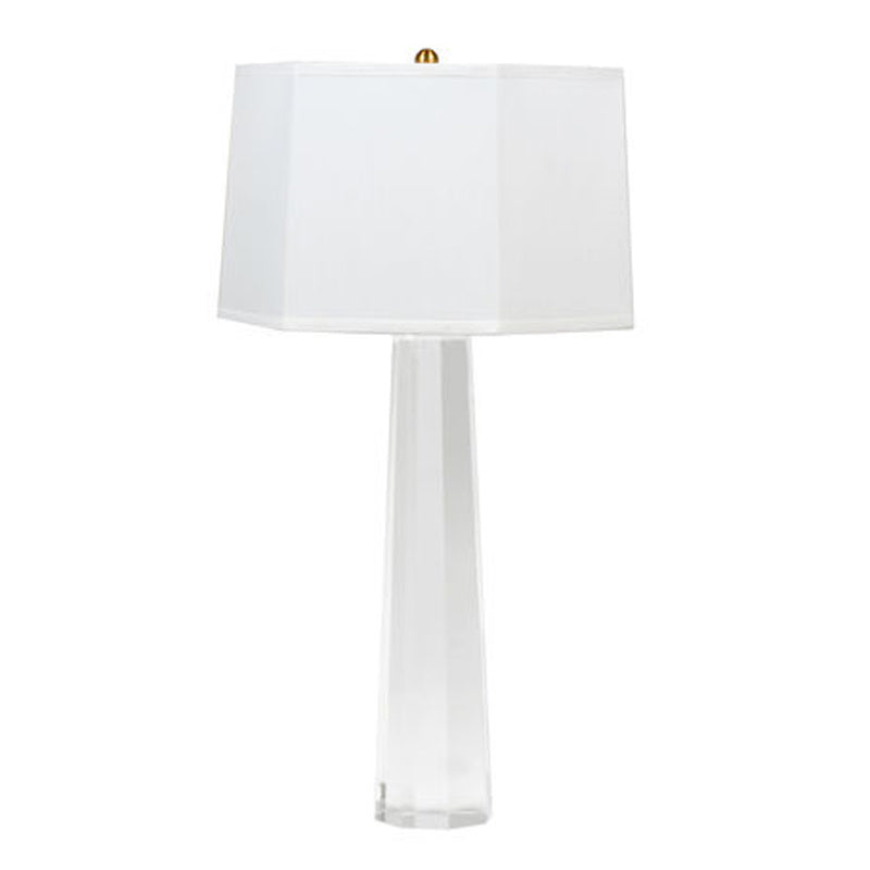 Glass Base Table Lamp w/ White Shade, Home Accessories, Laura of Pembroke