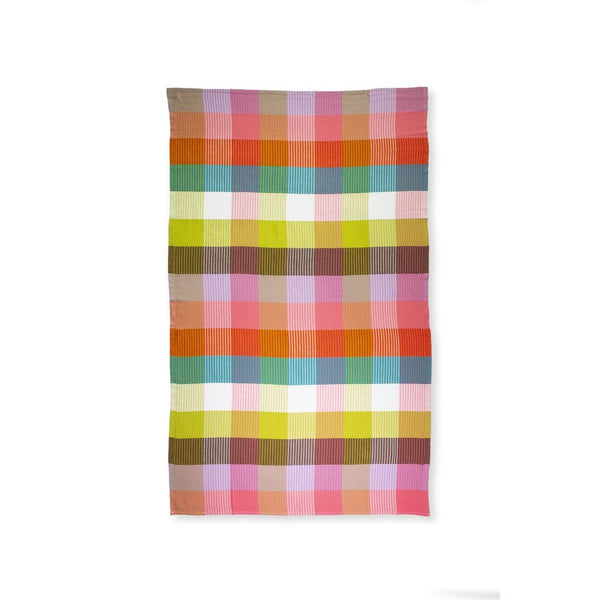 turkish towel, rainbow plaid