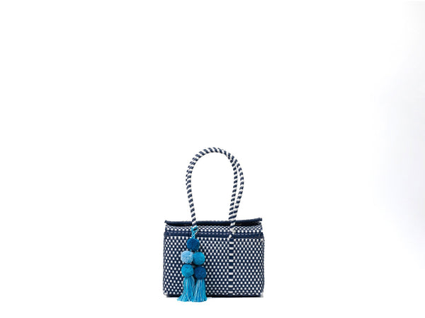 Mini Bombon Tote - Navy / White