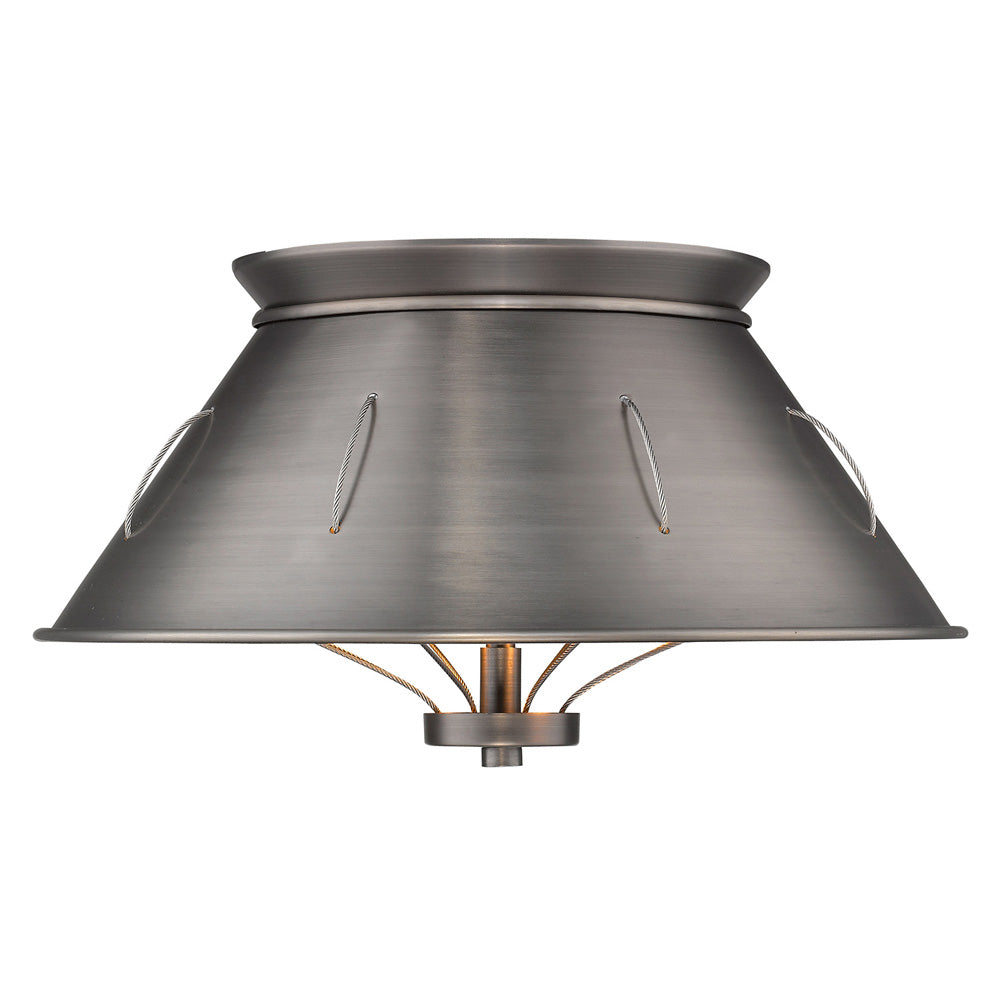 Whitaker Flush Mount in Aged Steel, Lighting, Laura of Pembroke
