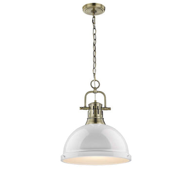 1 Light Pendant with White Shade, Lighting, Laura of Pembroke