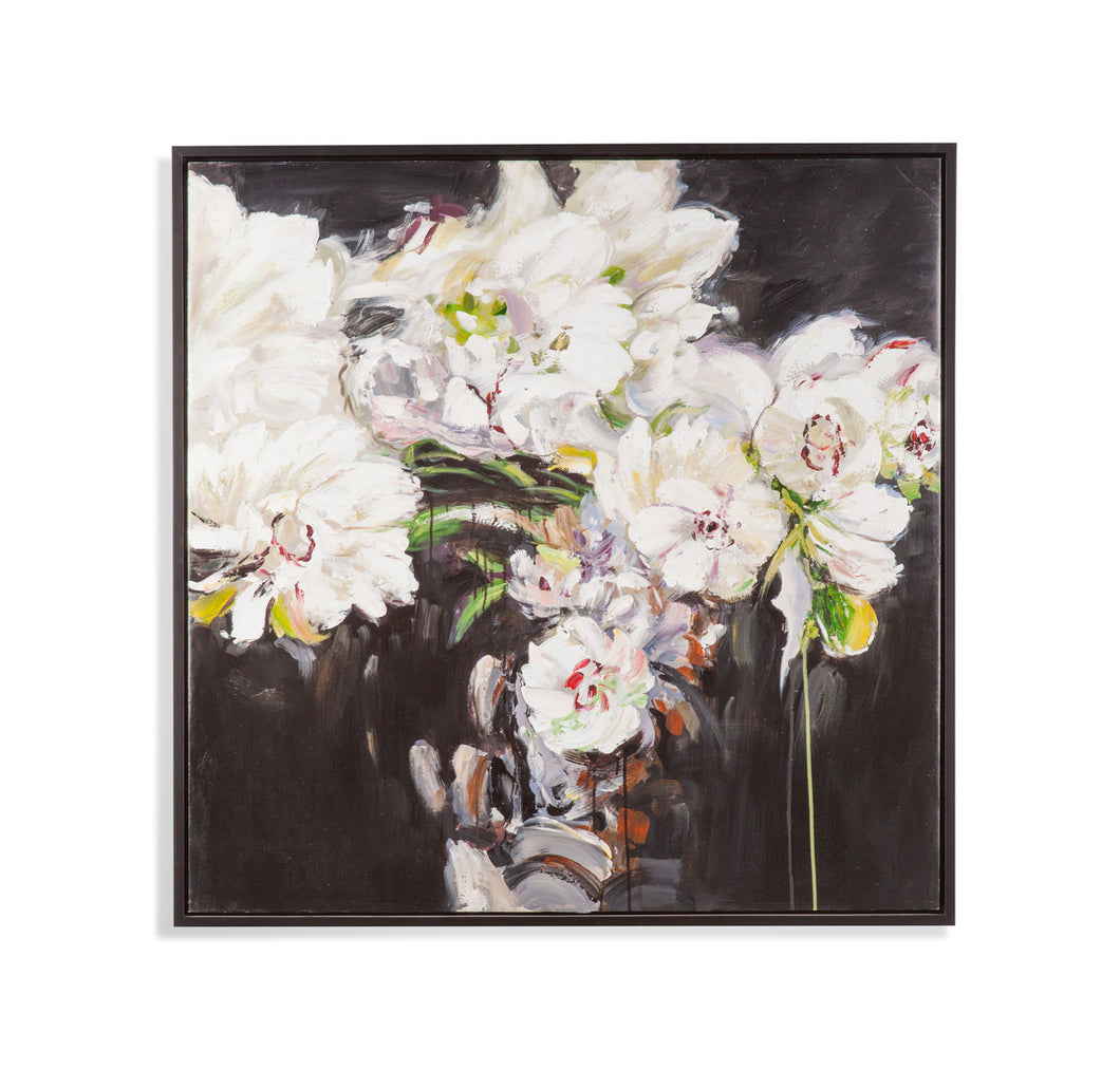 White Peonies Canvas, Home Accessories,Laura of Pembroke