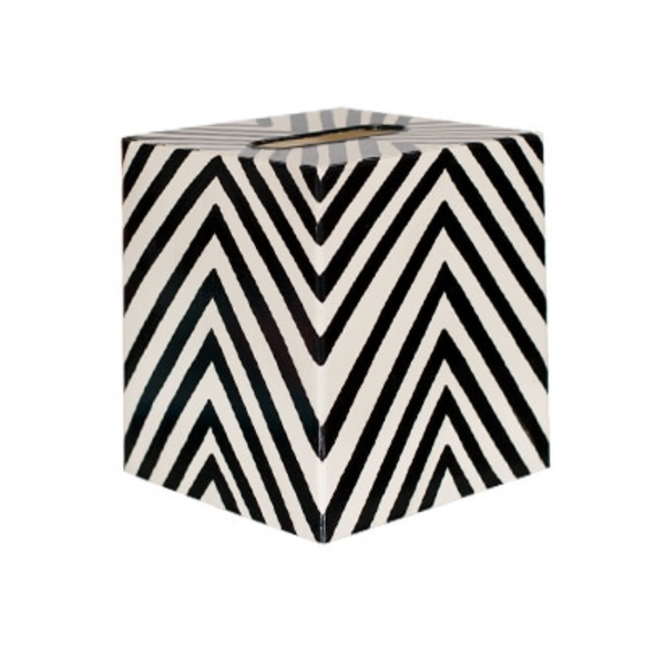 Black and White Tissue Box Cover