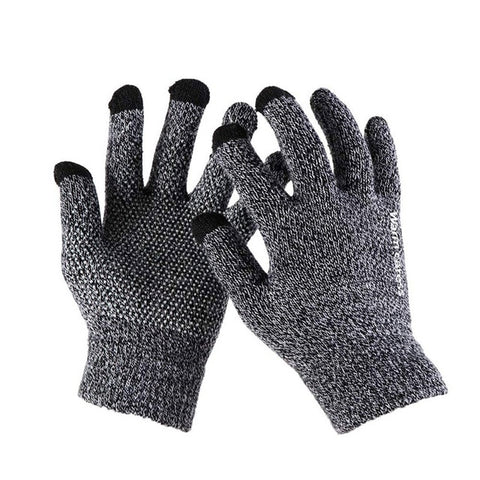 KStyles Autumn Wool Classic Cashmere Touchscreen Gloves for Men