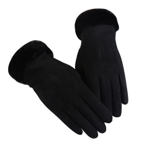 KStyles Winter Velvet Touchscreen Gloves for Women