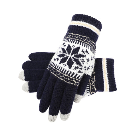 KStyles Classic Touchscreen Gloves with Snowflake Pattern Unisex