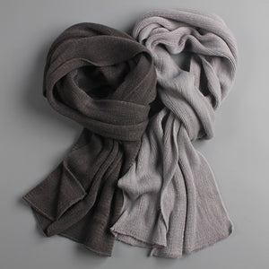 KStyles Cashmere Warm Black And Gray Scarves for Men