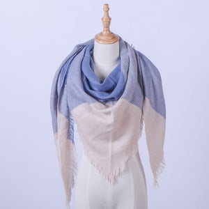 KStyle Triangular Plaid Simple Women's Scarf