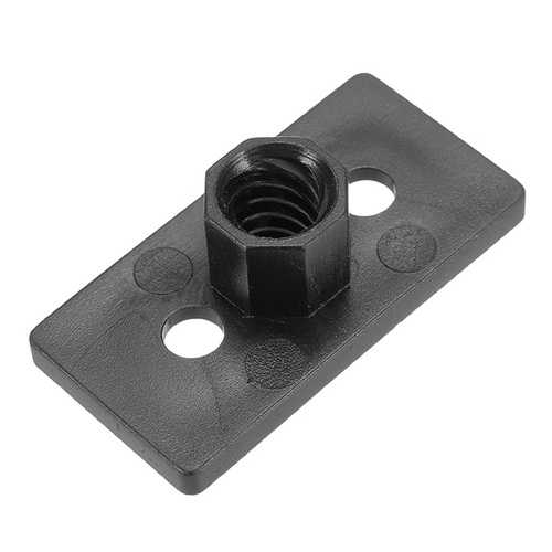 T8 4mm Lead 2mm Pitch T Thread POM Black Plastic Nut Plate For 3D Printer