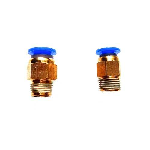 1.75mm/3mm Brass Pneumatic Connector Quick Joint For 3D Printer J-head Remote Extruder