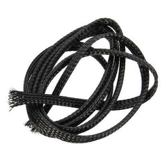 5PCS 1M Retardant Nylon Braided Sleeving 8mm Black PET Cable For 3D Printer