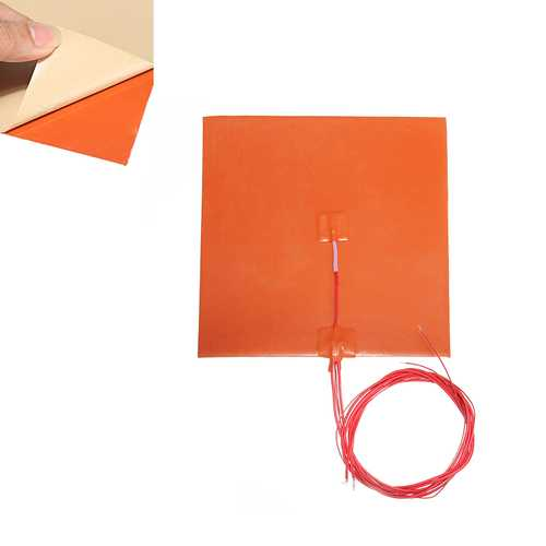 200*200mm 110V/220V 200W Silicone Heated Bed Heating Pad w/ Thermistor For 3D Printer