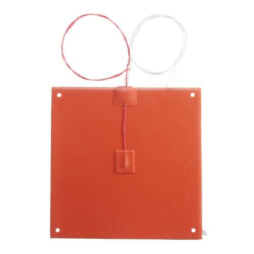 200x200mm 120v/220v 200W Silicone Heated Bed Heating Pad With Hole For 3D Printer