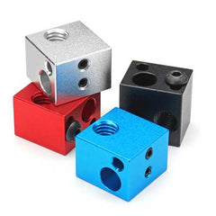 Aluminium Hot End Heating Block Support Various Thermistors For 3D Printer